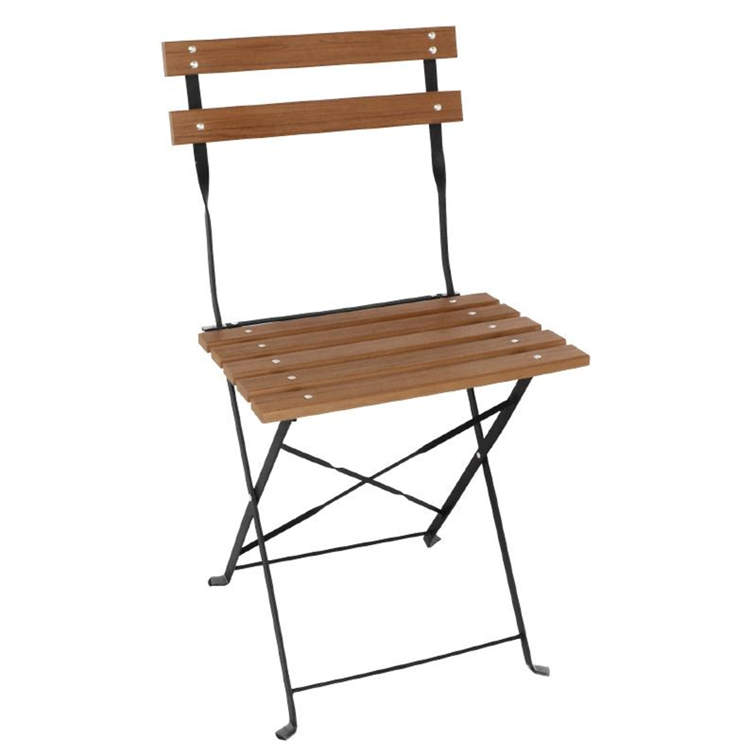 bolero faux wood bistro folding chairs pack of 2